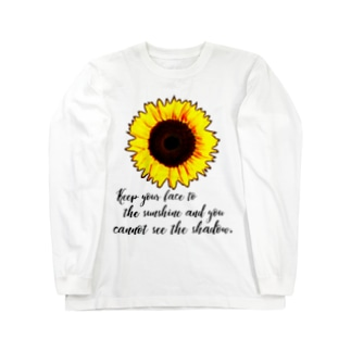 sunflower② Long sleeve T-shirts