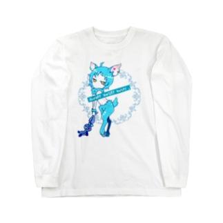 シカの嬢BLUE Long Sleeve T-Shirt