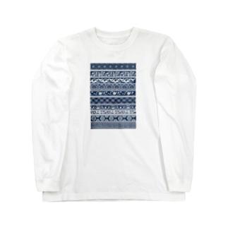 江戸小紋 Long sleeve T-shirts