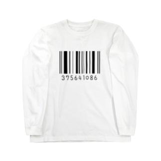 みなごろしバーコード Long sleeve T-shirts