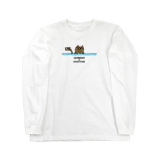 水泳 追い焚き Long sleeve T-shirts