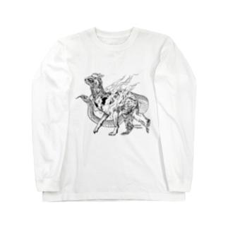 十二支之図 寿 Long Sleeve T-Shirt
