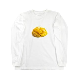 いただきマンゴー💛💓 Long sleeve T-shirts