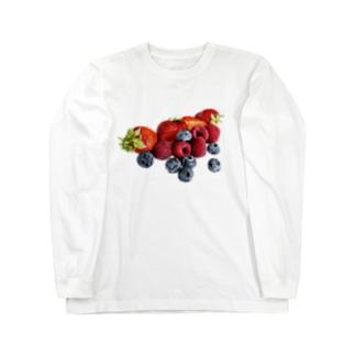 こぼれるWベリー🍓💜 Long sleeve T-shirts