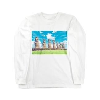 モアイ@サンメッセ日南 Long sleeve T-shirts
