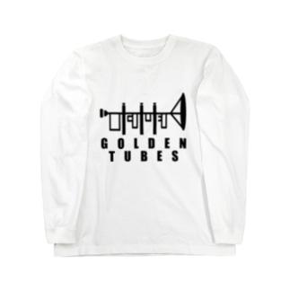 GOLDEN TUBES -black- Long sleeve T-shirts