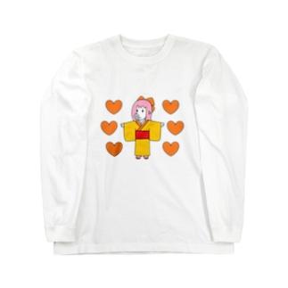 お豚(とん)さんwithオレンジハート Long Sleeve T-Shirt