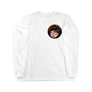 鏡太郎の怪談奇談コラボ企画【こわ太郎】 Long sleeve T-shirts