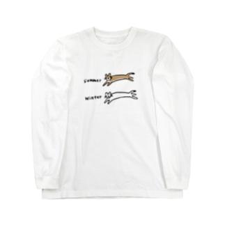 夏と冬のオコジョさん Long Sleeve T-Shirt