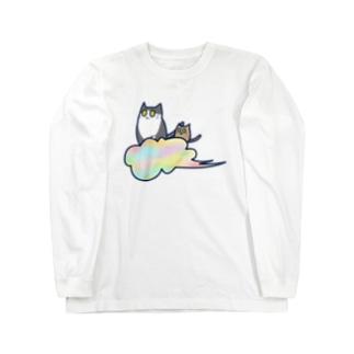 五色の雲と二匹の猫 Long Sleeve T-Shirt