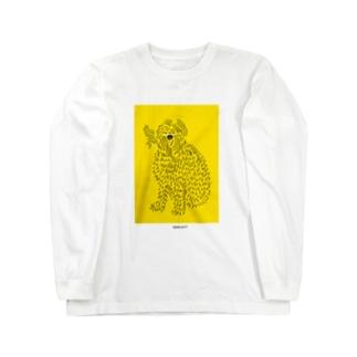風になびく犬 Long sleeve T-shirts