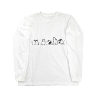 パンダマウスたち ライン Long Sleeve T-Shirt