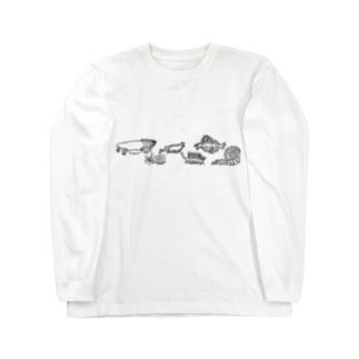 古代生物たち ライン Long Sleeve T-Shirt