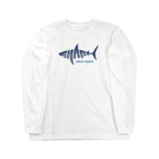 SHARK -Letter Logo Style- Long Sleeve T-Shirt