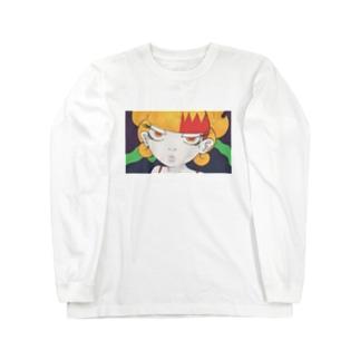 女の子作品010 顏 Long sleeve T-shirts