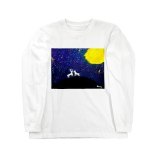 鹿と星空 Long Sleeve T-Shirt