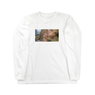 """""""モザイク""""  Long sleeve T-shirts"""
