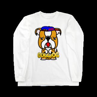 オリジナルデザインTシャツ SMOKIN'のちんちんブルドッグ Long sleeve T-shirts
