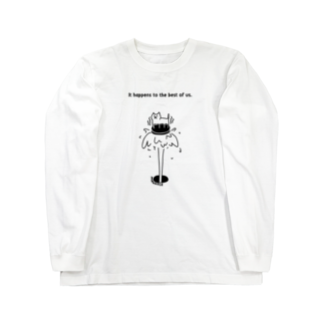 PokuStarのマンホールにネコ Long sleeve T-shirts