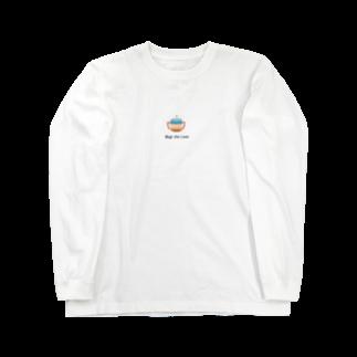 フラミンゴの泡の麦茶Lover Long sleeve T-shirts