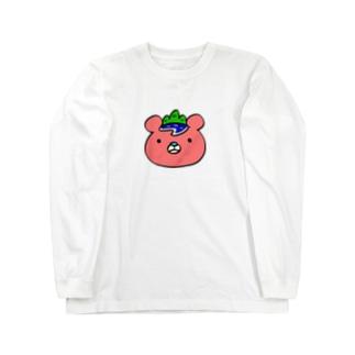いまじゅくま(顔・ロゴなし) Long sleeve T-shirts