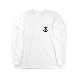 大日本帝国海軍軍記章(ワンポイント 黒) Long Sleeve T-Shirt