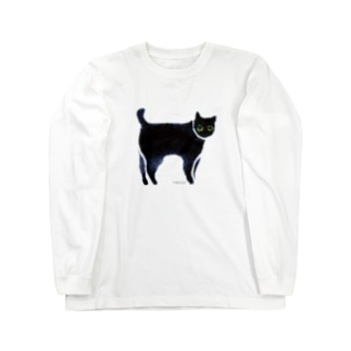 a piece of animation にじいろの黒ねこ TLSh Long sleeve T-shirts