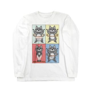 4コマまんが/フラフープ Long Sleeve T-Shirt