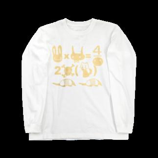 FINCH LIQUEUR RECORDSのニュニュ方程式 Long sleeve T-shirts