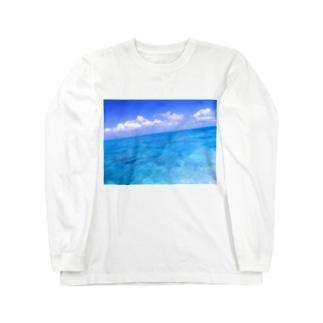 果てしない海の色 Long sleeve T-shirts