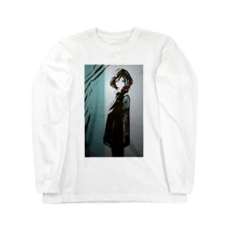ヨコムキ Long sleeve T-shirts