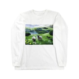 雨あがり Long sleeve T-shirts