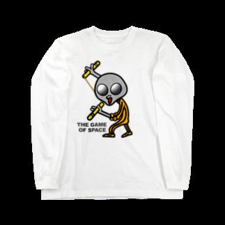 オリジナルデザインTシャツ SMOKIN'の宇宙遊戯2 ヌンチャクバージョン  Long sleeve T-shirts