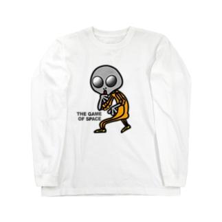 宇宙遊戯 ポスターバージョン Long sleeve T-shirts