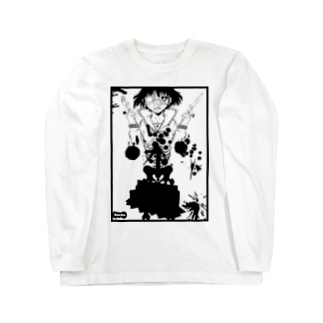 骸骨少女 Long sleeve T-shirts