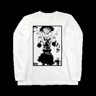 ESCHATOLOGYの骸骨少女 Long sleeve T-shirts