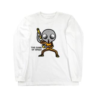 宇宙遊戯 ヌンチャクバージョン2 Long sleeve T-shirts