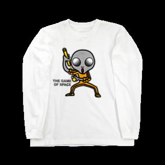 オリジナルデザインTシャツ SMOKIN'の宇宙遊戯 ヌンチャクバージョン2 Long sleeve T-shirts
