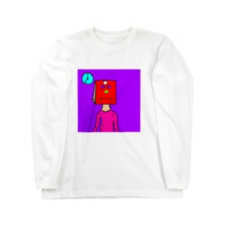 紙袋くん Long sleeve T-shirts
