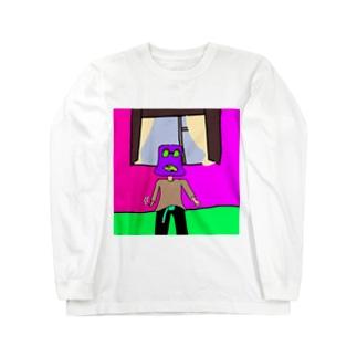PURPLEくん Long sleeve T-shirts