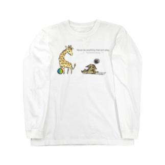 イライラジャッカルくんとキリンくん Long sleeve T-shirts