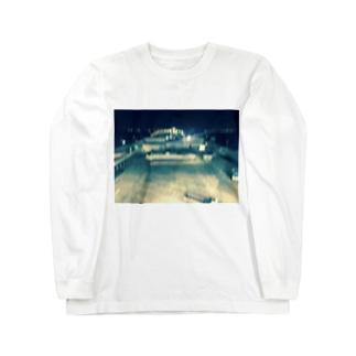 ナイトフォト(海ほたる) Long sleeve T-shirts