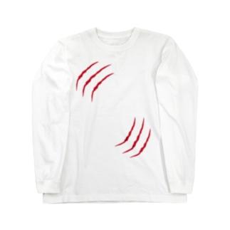引っ掻き傷 Long sleeve T-shirts