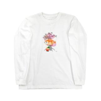 ジャム猫パン Long sleeve T-shirts