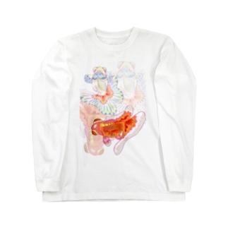 更紗蝶尾(文字無し) Long sleeve T-shirts