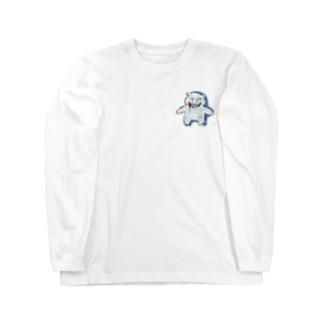スプラッターベア Long sleeve T-shirts