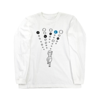 tanka/ハシビロコウ Long sleeve T-shirts