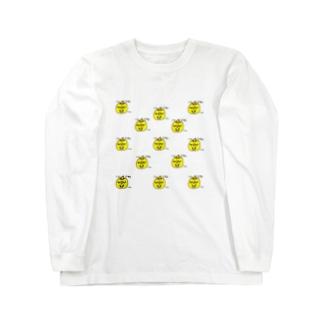 KABOCHA -Cute Pumpkin- うひょうひょいっぱい Long sleeve T-shirts