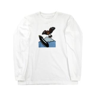 一富士二鷹三茄子 Long sleeve T-shirts
