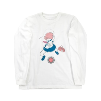 ベーゴマ少女 Long sleeve T-shirts